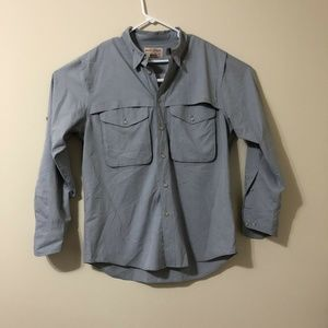 Filson Garment Men Shirt Large Blue Buttons Pocket